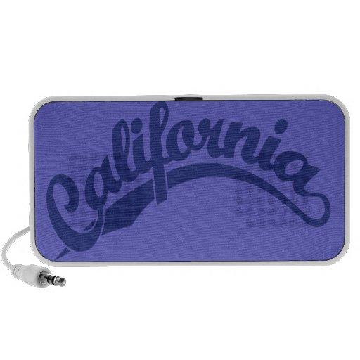 California Script logo in blue Speakers