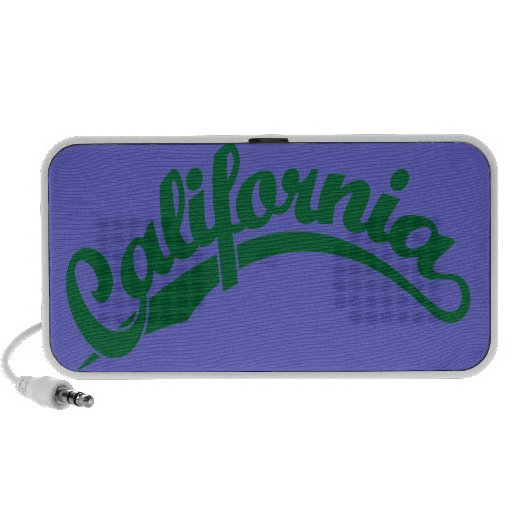 California Script logo in Green Laptop Speaker
