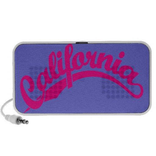 California Script logo in Magenta Portable Speakers