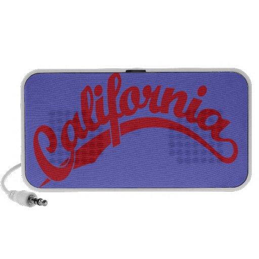 California Script logo in Red iPhone Speakers