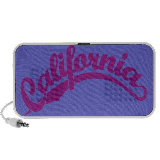 California Script logo in Violet Mini Speakers