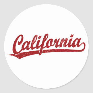 California script logo script logo in red stickers