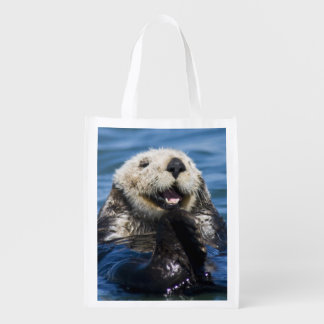 California Sea Otter Enhydra lutris) grooms Reusable Grocery Bag