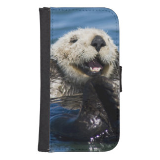 California Sea Otter Enhydra lutris) grooms Samsung S4 Wallet Case
