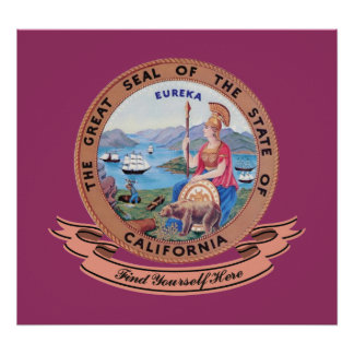 California Seal Poster
