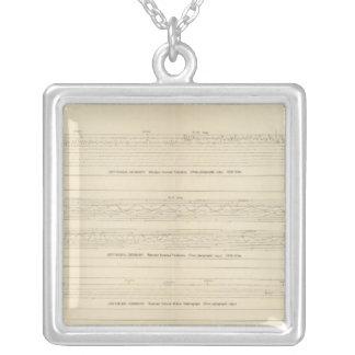 California Seismograms 12 Silver Plated Necklace