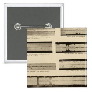 California Seismograms 2 15 Cm Square Badge