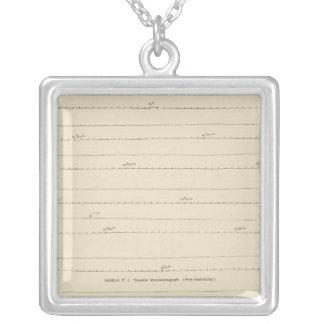 California Seismograms 4 Silver Plated Necklace