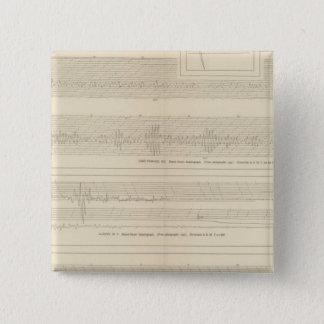 California Seismograms 8 15 Cm Square Badge