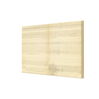 California Seismograms 9 Canvas Print