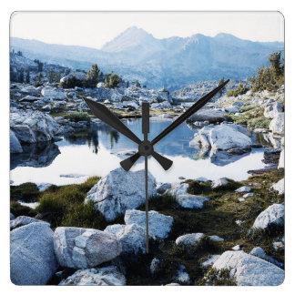 California, Sierra Nevada Mountains 16 Square Wall Clock