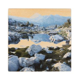 California, Sierra Nevada Mountains 16 Wood Coaster