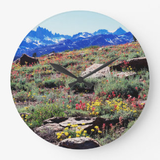 California, Sierra Nevada Mountains 1 Large Clock