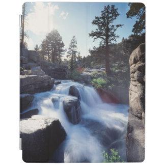 California, Sierra Nevada Mountains, A waterfall iPad Cover