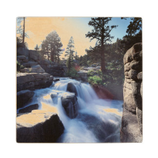 California, Sierra Nevada Mountains, A waterfall Wood Coaster