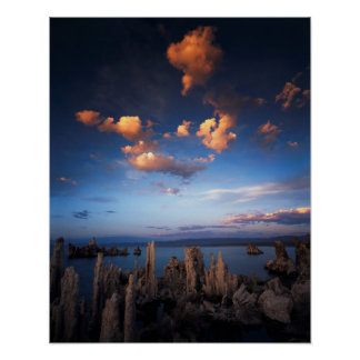 California, Sierra Nevada Mountains, Clouds at Poster