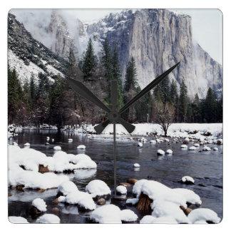 California, Sierra Nevada Mountains, Yosemite 2 Square Wall Clock