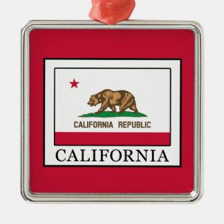 California Silver-Colored Square Decoration