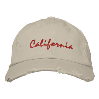 California simple text rough hat embroidered cap