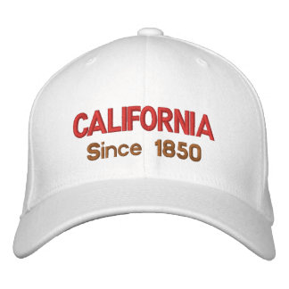 California Since 1850 Cap Embroidered Baseball Caps
