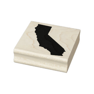 California Solid Rubber Art Stamp