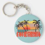 California Souvenir Basic Round Button Key Ring