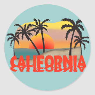 California Souvenir Classic Round Sticker