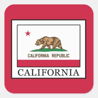 California Square Sticker