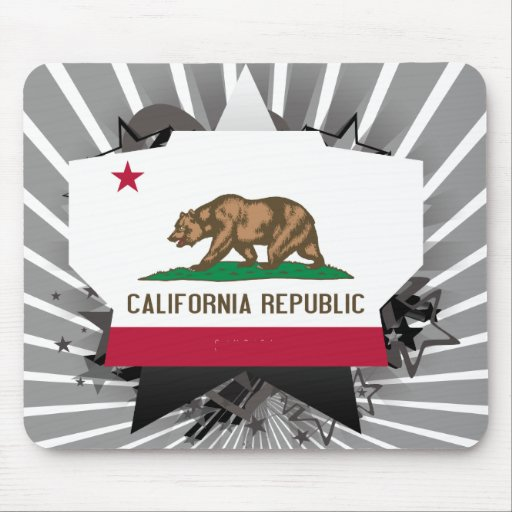 California Star Mouse Pad