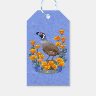 California State Bird Quail & Golden Poppy