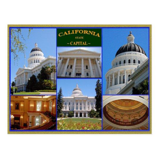 California state capital postcard