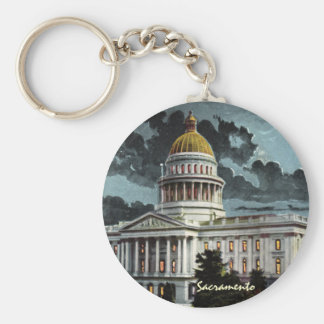 California State Capitol Moonlight Keychain