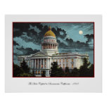California State Capitol Moonlight Poster