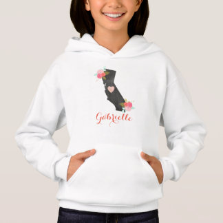 California State Chic Floral Monogram Girl's