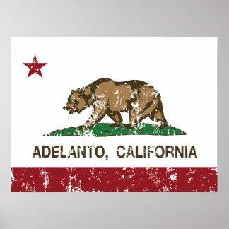 California State Flag Adelanto Print