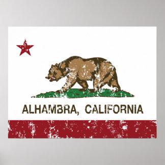 California State Flag Alhambra Poster
