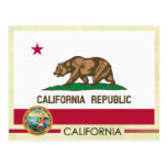 California State Flag and Seal Postcards