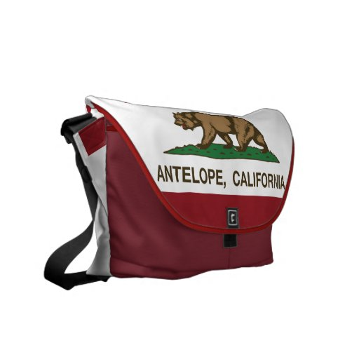 California State Flag Antelope Courier Bag