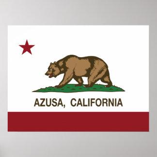 California State Flag Azusa Posters