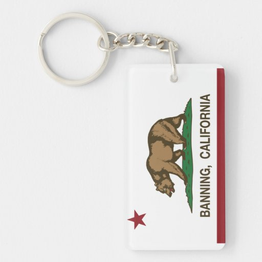 California State Flag Banning Acrylic Keychains