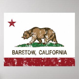 California State Flag Barstow Print