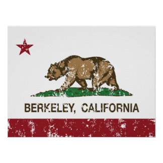 California State Flag Berkeley Posters