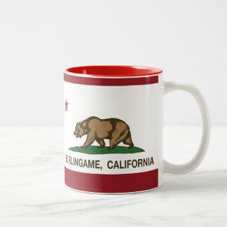California State Flag Burlingame Two-Tone Mug