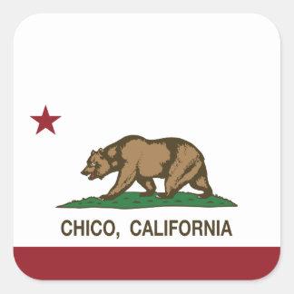 California State Flag Chico Square Sticker
