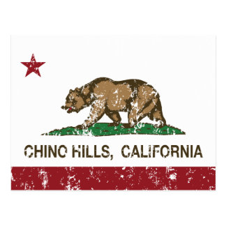 California State Flag Chino Hills Postcard