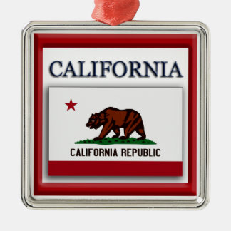 California State Flag Christmas Ornament