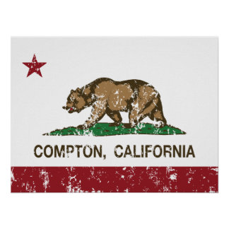 California State Flag Compton Poster