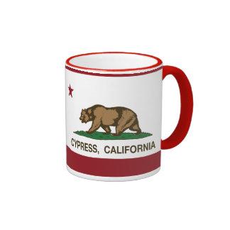 California State Flag Cypress Ringer Mug