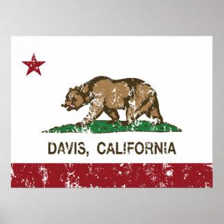 California State Flag Davis Posters