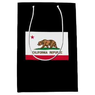 California State Flag Design Medium Gift Bag